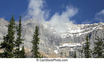 Clouds over the Rockies, Time Lapse - Cloudscape in Banff...