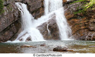 Cameron Falls - Waterton Lakes National Park, Canada,...