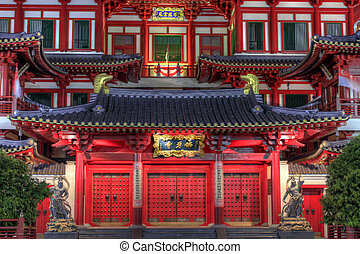 Buddha Tooth Relic Temple Front Doors - Buddha Tooth Relic...