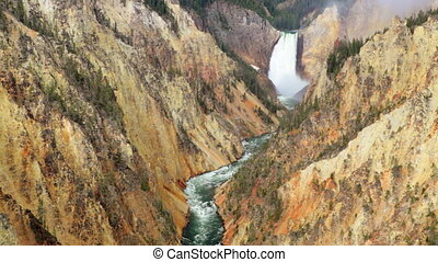 Lower Yellowstone Waterfall 1