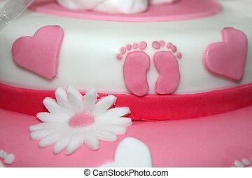 Pink babay cake