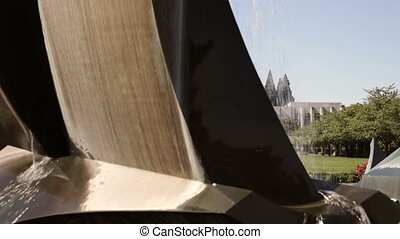 State Capitol Building - Dolly shot of fountain and grounds...