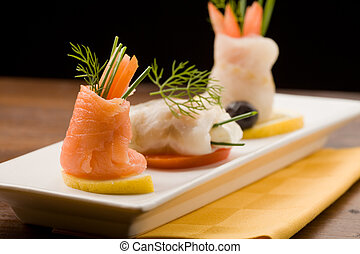 Fish rolls - photo of delicious fish rolls made of seabass...