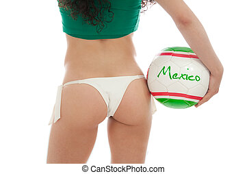 Mexico Shorts - Beautiful model wearing green, red and white...