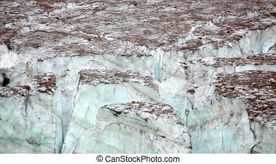 Melting Angel Glacier - Glacial melt from Angel Glacier,...