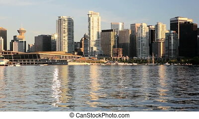 Downtown Vancouver, BC - Waterfront view of downtown...