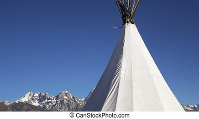 Teepee and Grand Tetons