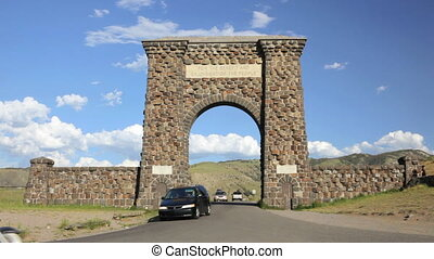 Entrance into Yellowstone National Park 2 - Historic...