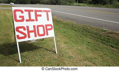 Gift Shop Sign - Gift shop sign along the road