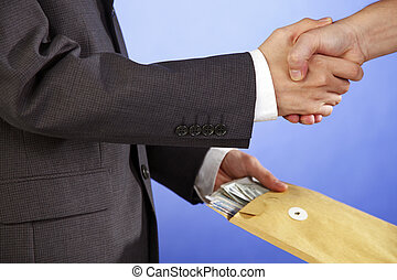 golden handshake - stock image of the busines deal seal
