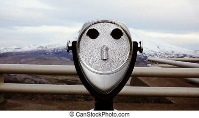 Coin Operated Binoculars - Coin operated binoculars looking...