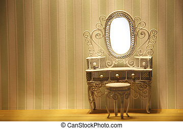 dressing table - miniature of the dressing table in a room
