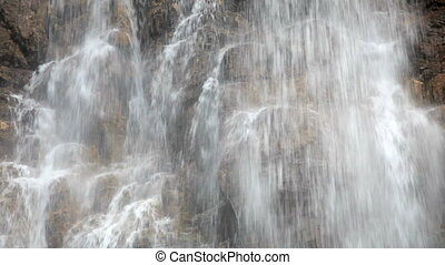 Stanley Falls - Waterfall in Jasper National Park, Alberta,...