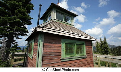 Historic Fire Tower - Mount Revelstoke National Park,...