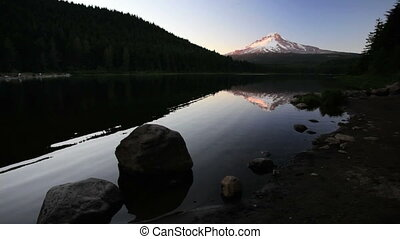 Mt Hood Reflection - Mount Hood reflecting off Trillium...