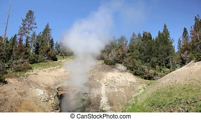 Dragons Mouth Geyser - The Dragons Mouth geyser in...