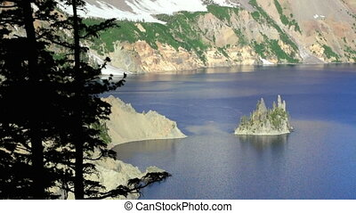 Phantom Ship, Crater Lake - Phantom Ship in Crater Lake...