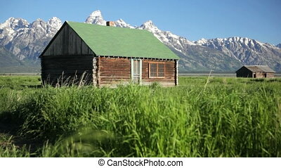 Old Pioneer Homestead - Mormon Row, Grand Teton National...