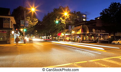 Vancouver, B.C., Timelapse - Denman Street, Vancouver, BC,...