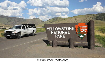Yellowstone National Park Sign 2 - Entrance sign for...