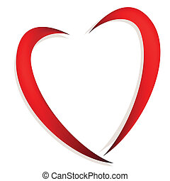 Abstract heart - Abstract red heart vector