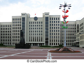 Square of Independance in Minsk, Belarus
