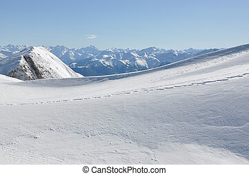 Snowdrifts in Swiss Alps