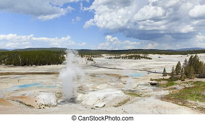 Yellowstone National Park, Time Lapse - Time lapse, Norris...