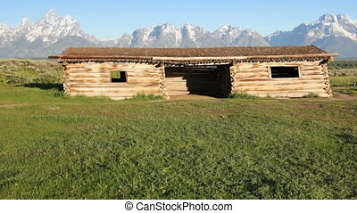 Old Pioneer Log Cabin - Grand Tetons and Cunningham Cabin,...