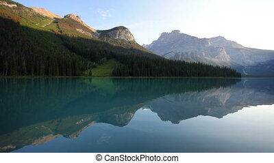 Emerald Lake Reflection - Emerald Lake, Yoho National Park,...
