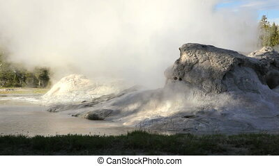 Grotto Geyser 2 - Eruption from Grotto Geyser, Yellowstone...