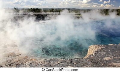 Yellowstone Geyser - Excelsior Geyser, in Yellowstone...