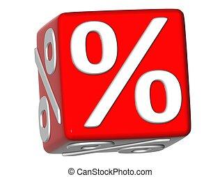 3D Percentage Sign