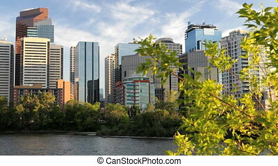 Calgary Waterfront Skyline - Downtown Calgary skyline