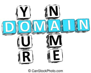 3D Domain Your Name Crossword