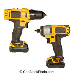 rechargeable driver and drill isolated - rechargeable impact...