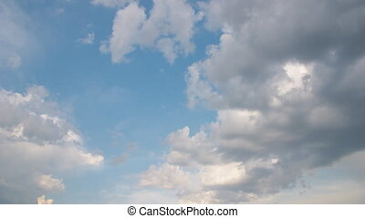 Multilevel white floating clouds - Unique natural effect -...