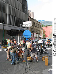 Making of a commercial clip. Caracas, Venezuela, June 2008