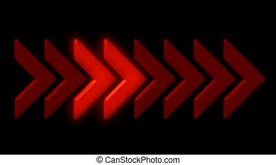 shiny red arrow,emergency exit sign,game or software...