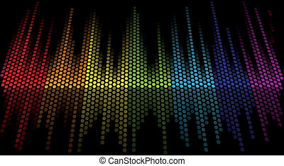 vector color scale equalizer on black background