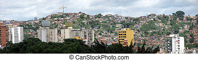 Jungle of city slum in Caracas, Venezuela