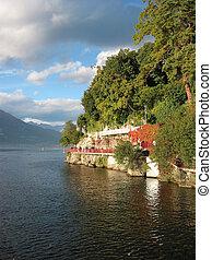 View to famous Italian lake Como near Varenna town