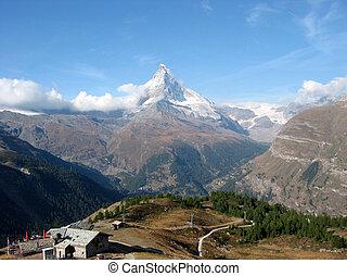 View to Matterhorn, Swiss Alps