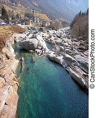 River in Verzasca valley, Italian part of Switzerland