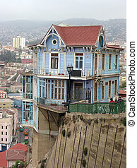 Famouse hillside house in Valparaiso, Chile