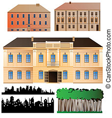 Architecture - Highly detailed palace facade, two less...