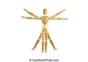 Wooden manikin Vitruvian Man - A Wooden manikin Vitruvian...