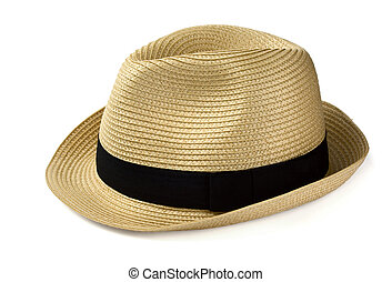 Panama hat - Summer panama straw hat isolated on white