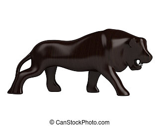 Animal statuette - African animal statuette isolated on...