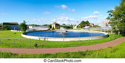 waste water treatment bassin